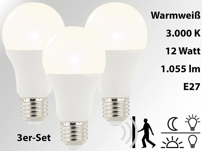 Luminea LED Lampe automaitch: LED Lampe mit Radar Bewegungs