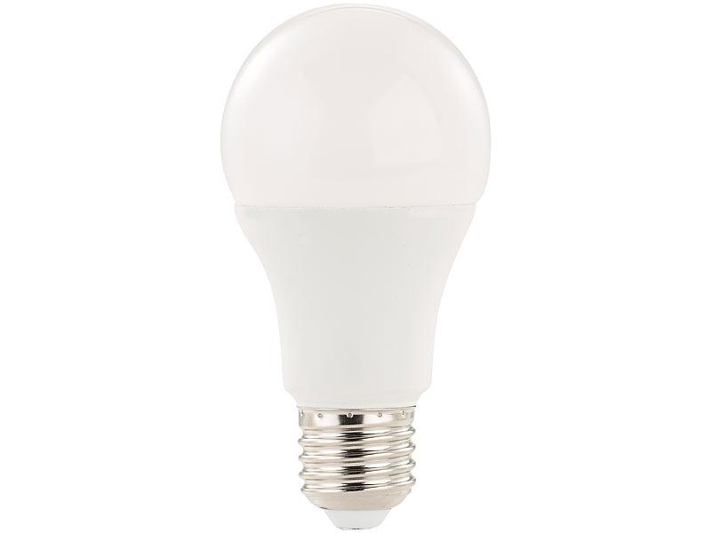 luminea sparsame led lampen 3x led lampe mit radar bewegungssensor 12 w e27 ww k led. Black Bedroom Furniture Sets. Home Design Ideas