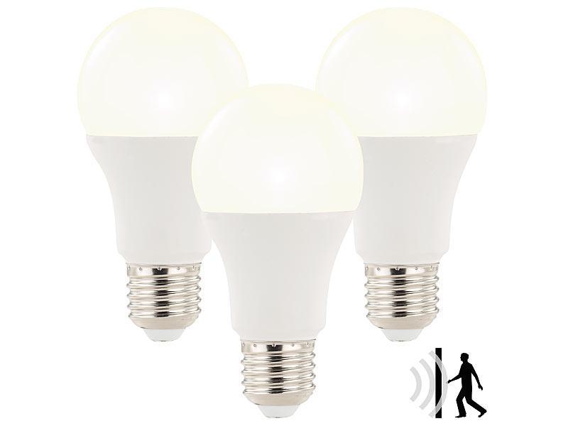 luminea sparsame led lampen 3x led lampe mit radar. Black Bedroom Furniture Sets. Home Design Ideas