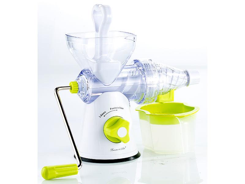 Nutrilovers Slow Juicer Elektrischer Entsafter : Rosenstein & Sohne Obstpresse: Manueller Slow Juicer (Beerenpresse)