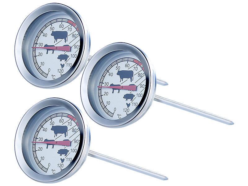 rosenstein s hne bbq thermometer analoges xl fleisch und braten thermometer 3er set. Black Bedroom Furniture Sets. Home Design Ideas