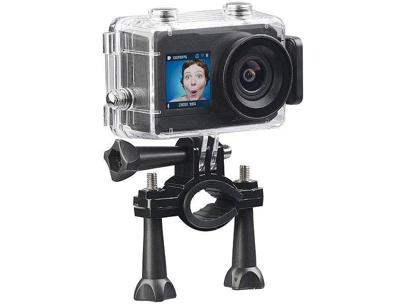 somikon 4k action cam uhd action cam mit 2 displays wlan. Black Bedroom Furniture Sets. Home Design Ideas