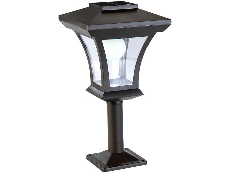 lunartec solarlampe solar led standleuchte swl 05 im laternen design 45 lumen 0 3 watt. Black Bedroom Furniture Sets. Home Design Ideas