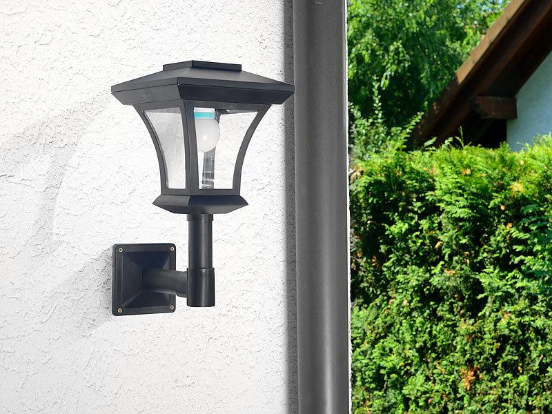 lunartec solar aussenleuchte solar led wandleuchte wl 345 45 lumen 0 3 watt solar led laternen. Black Bedroom Furniture Sets. Home Design Ideas