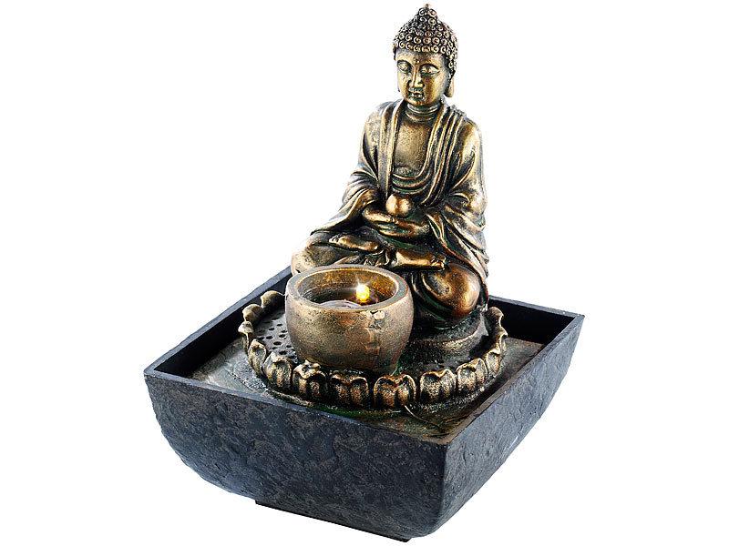infactory beleuchteter zimmerbrunnen mit buddha. Black Bedroom Furniture Sets. Home Design Ideas