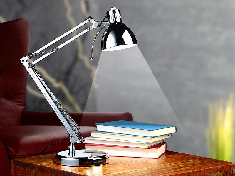 Lunartec tischlampe im retro design 3 watt led silber for Tischlampe design