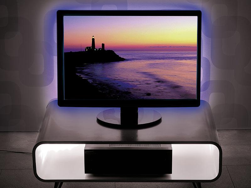 lunartec led tv tv hintergrundbeleuchtung lt 184c 4 leisten usb multicolor 46 70 rgb tv. Black Bedroom Furniture Sets. Home Design Ideas