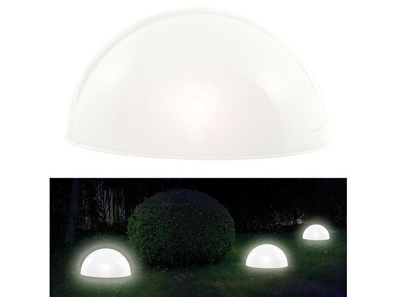 LED Leucht Kugel RGB Solar Kugelleuchte Bodenleuchte Farbwechsel Garten Außen