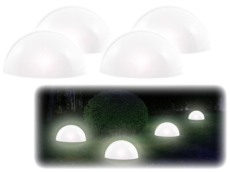 lunartec solar kugelleuchten solar leuchthalbkugel mit. Black Bedroom Furniture Sets. Home Design Ideas