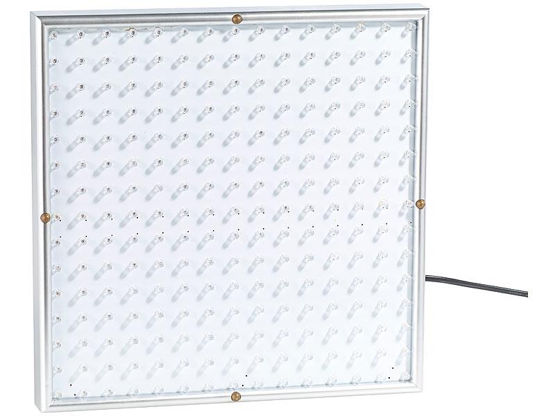 lunartec pflanzenlicht profi led pflanzen wachstums leuchtpanel mit 225 leds 250 lumen led. Black Bedroom Furniture Sets. Home Design Ideas