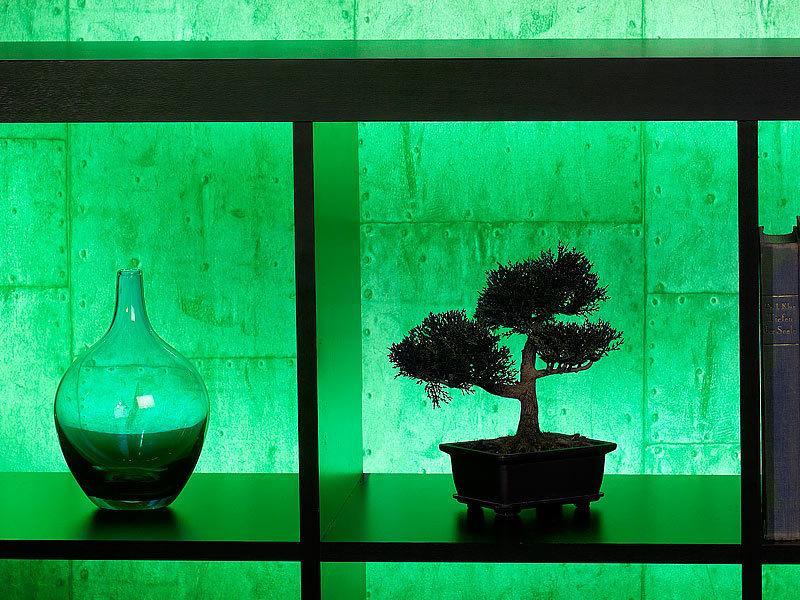 lunartec schrankleuchten smd stip led streifen le 500ga 5 m gr n outdoor ip65 lichtschlauch. Black Bedroom Furniture Sets. Home Design Ideas