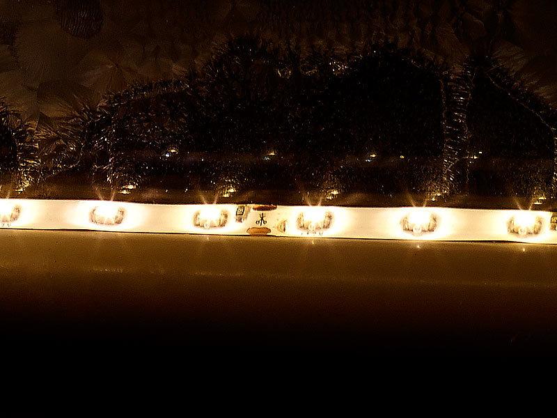lunartec lichtband led streifen le 500mn 5 m warmwei innenbereich flexible led streifen. Black Bedroom Furniture Sets. Home Design Ideas