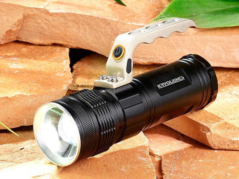 Kryolights handscheinwerfer: led akku taschenlampe trc 180.3a mit