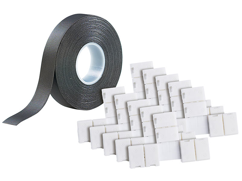 lunartec deko schrankleuchten t verbindungsst ck f r led streifen serie lc ip44 10er set led. Black Bedroom Furniture Sets. Home Design Ideas