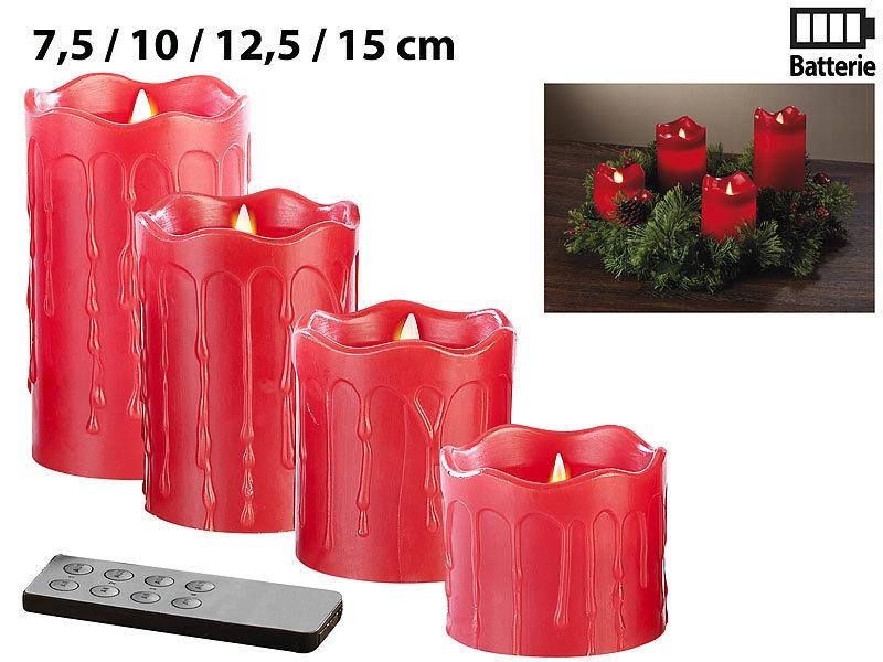britesta dekokranz adventskranz mit roten led kerzen silbern geschm ckt weihnachtskranz. Black Bedroom Furniture Sets. Home Design Ideas