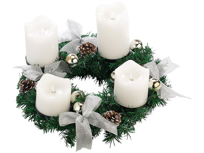 britesta adventsgestecke adventskranz silbern 4 wei e. Black Bedroom Furniture Sets. Home Design Ideas