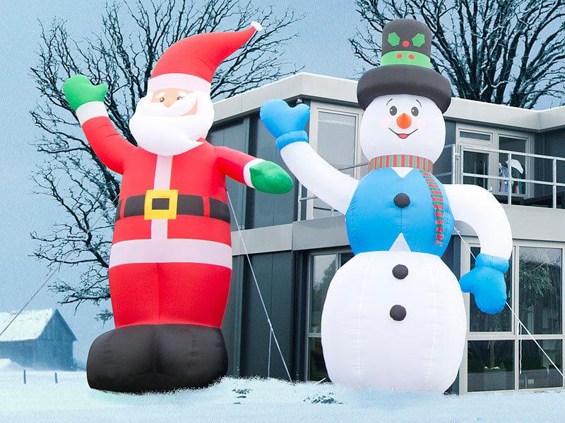 Infactory Nikolaus Selbstaufblasender Xxl Weihnachtsmann 6 M