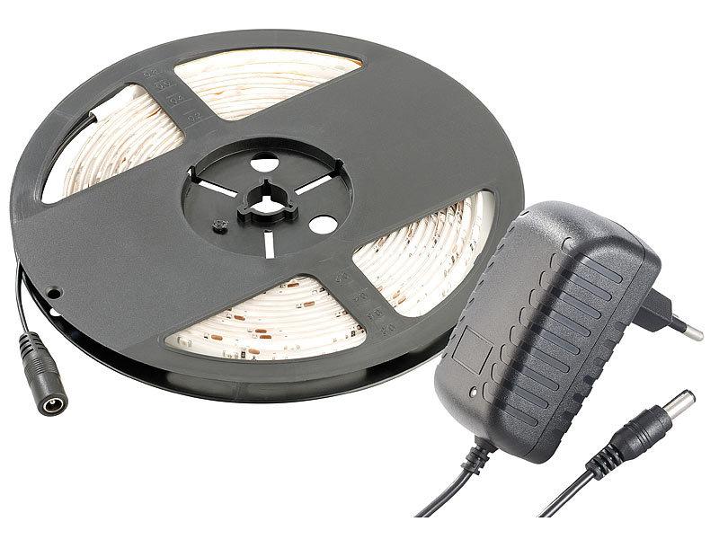 lunartec led streifen le 500wn 5 m wei innenbereich netzteil. Black Bedroom Furniture Sets. Home Design Ideas