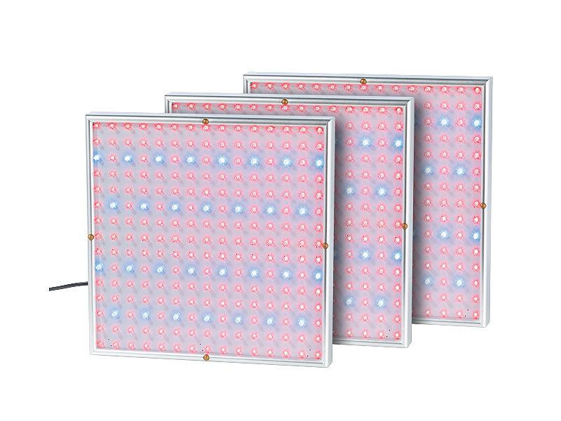 lunartec profi led pflanzen wachstums leuchtpanels 225 leds 3er set. Black Bedroom Furniture Sets. Home Design Ideas