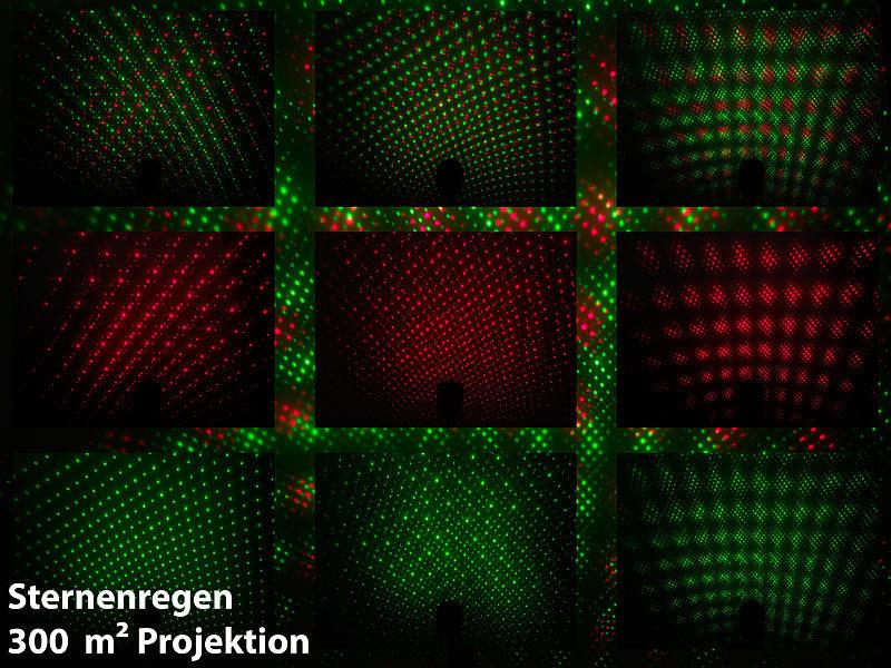 lunartec sternenhimmel laser projektor mit sternenregen lichteffekt fernbedien timer ip65. Black Bedroom Furniture Sets. Home Design Ideas