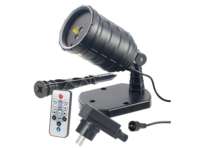 lunartec star shower laser projektor mit sternenregen lichteffekt fernbedien timer ip65. Black Bedroom Furniture Sets. Home Design Ideas