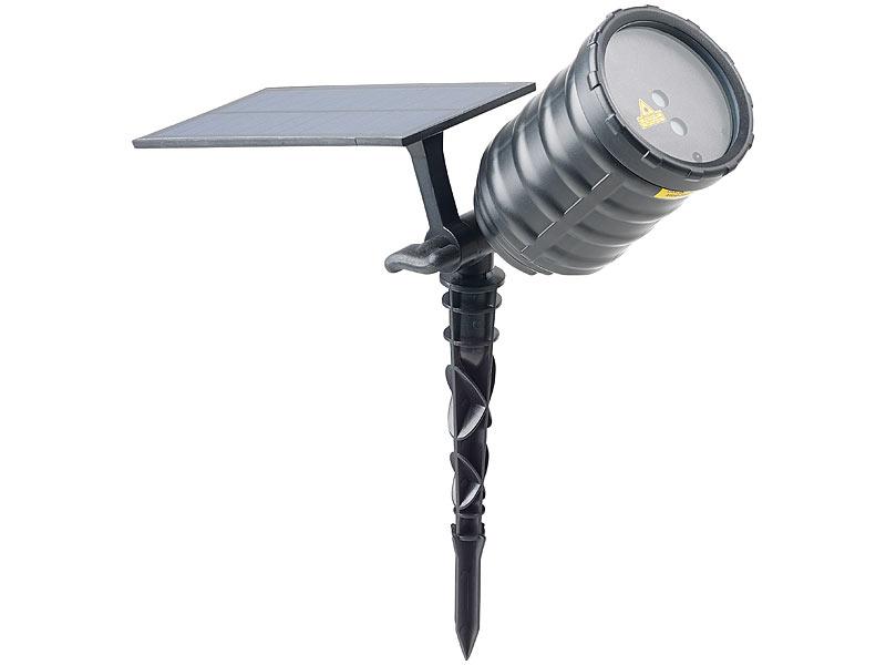 lunartec solar laser projektor mit akku sternenregen. Black Bedroom Furniture Sets. Home Design Ideas