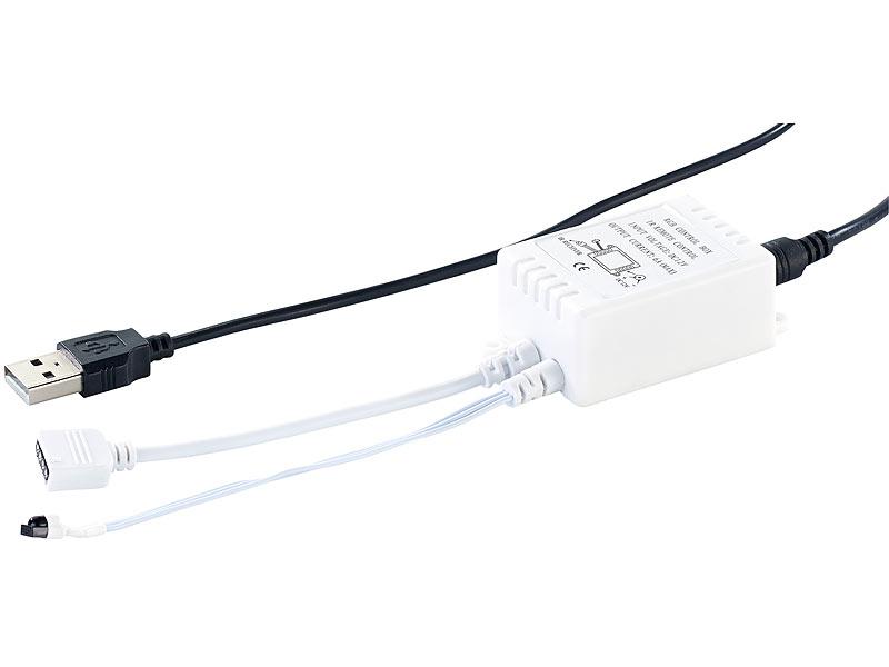lunartec led streifen usb tv hintergrundbeleuchtung mit 4 leisten f r 61 111 cm warmwei. Black Bedroom Furniture Sets. Home Design Ideas