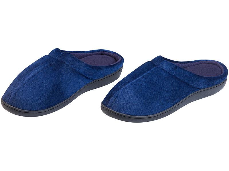 online store b7036 4f975 infactory Pantoffeln: Warme Hausschuhe aus Memory-Schaum mit ...