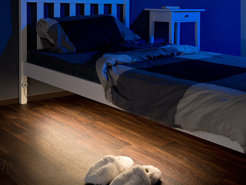 lunartec bettbeleuchtung led led bettlicht f r einzelbett bewegungssensor 1 2 m k rzbar 36. Black Bedroom Furniture Sets. Home Design Ideas
