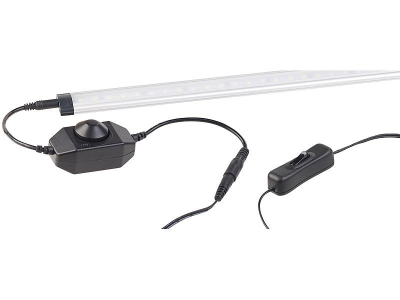 luminea unterbaulampe 3er komplett set dimmbare led unterbauleuchte 720 lumen 9 watt. Black Bedroom Furniture Sets. Home Design Ideas