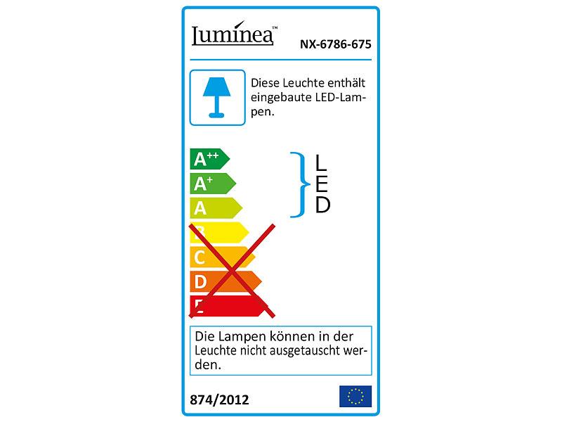 luminea schrankbeleuchtung 3er komplett set dimmbare led unterbauleuchte 720 lumen 9 watt. Black Bedroom Furniture Sets. Home Design Ideas