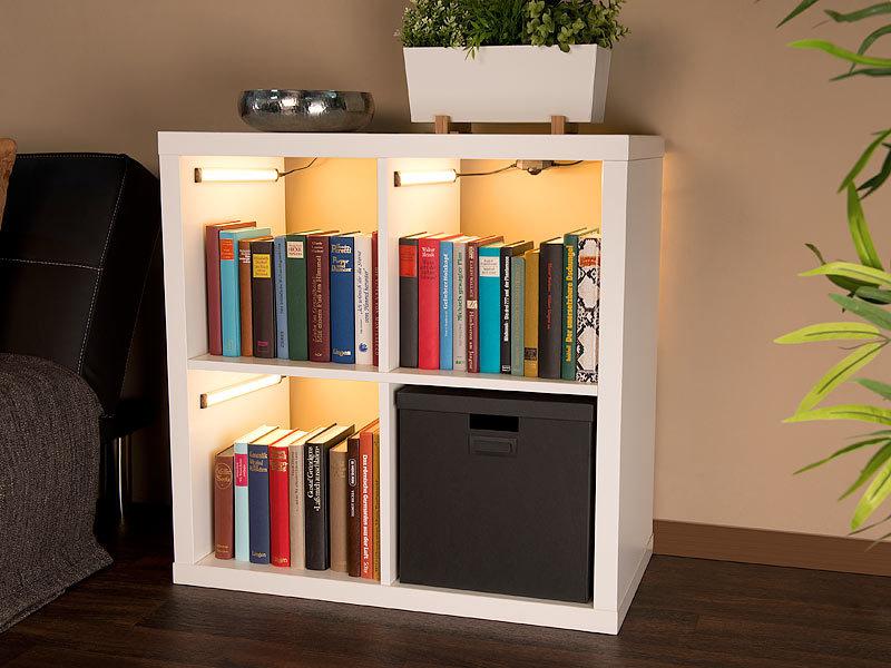 luminea led beleuchtung 3er komplett set dimmbare led unterbauleuchte 720 lumen 9 watt. Black Bedroom Furniture Sets. Home Design Ideas