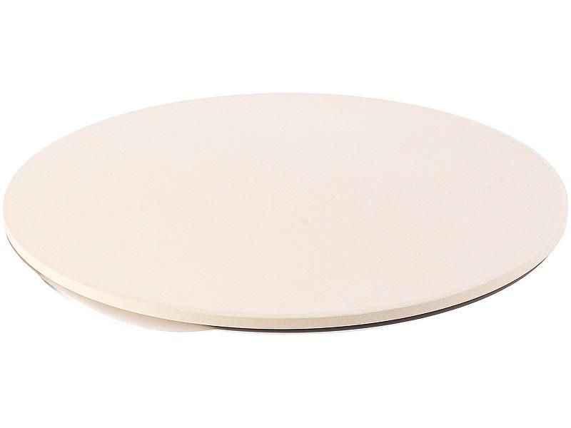 Pizzastein-Set Ø 33 cm mit Blech Ø 33 cm und Pizzaschneider