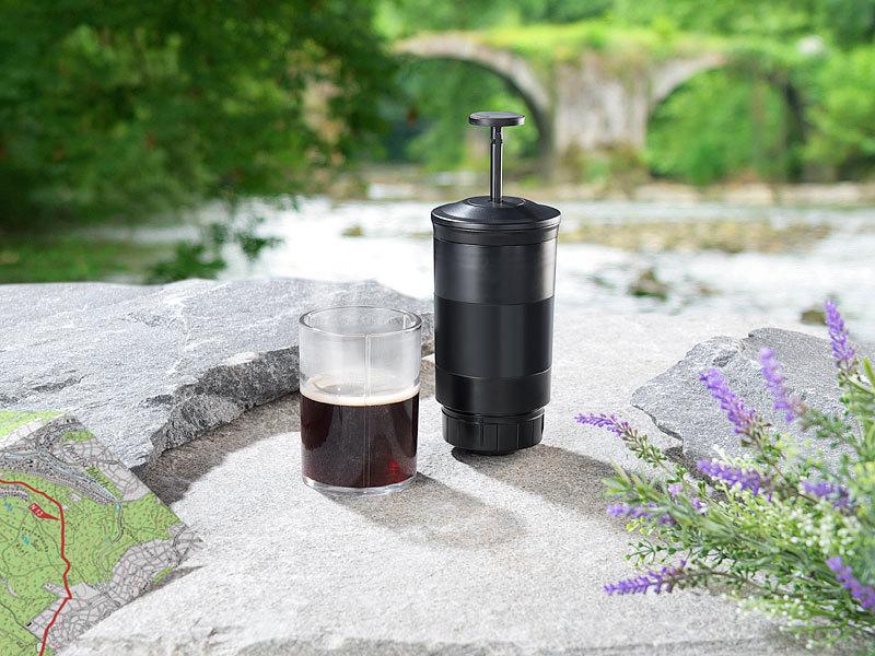 rosenstein s hne kaffemaschine manuelle kaffee und espressomaschine mit kaffeekapsel adapter. Black Bedroom Furniture Sets. Home Design Ideas