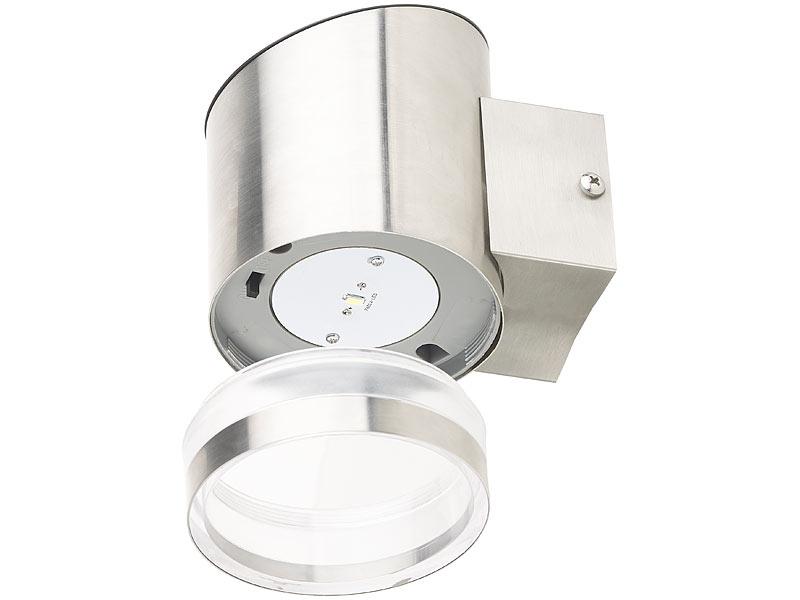 lunartec solarlampe elegante solar led wandleuchte f r. Black Bedroom Furniture Sets. Home Design Ideas