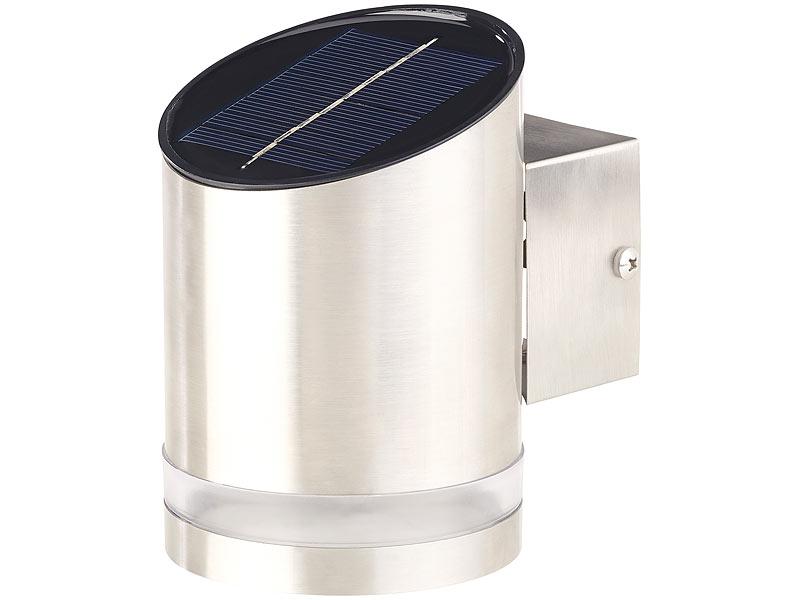 lunartec solar au enwandleuchten elegante solar led. Black Bedroom Furniture Sets. Home Design Ideas