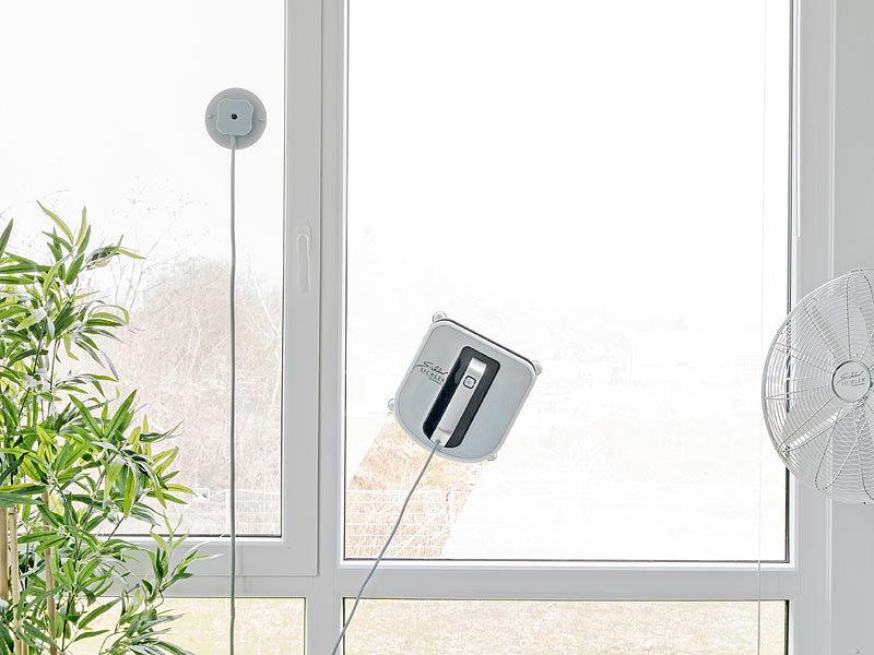 sichler reinigungsroboter profi fensterputz roboter mit vibrationsreinigung und fernbedienung. Black Bedroom Furniture Sets. Home Design Ideas
