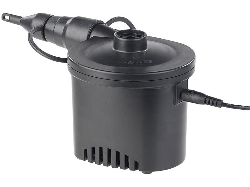 infactory elektropumpe akku luftpumpe mit 3 ventil aufs tzen und usb ladekabel 200 l min. Black Bedroom Furniture Sets. Home Design Ideas