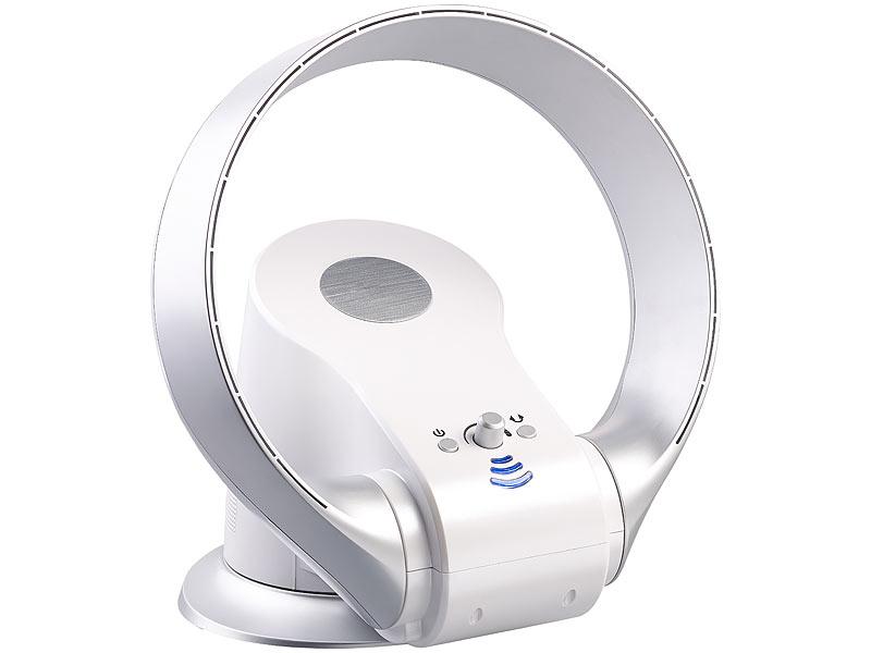 sichler tischventilator rotorloser 360 wand und tisch ventilator mit oszillation 26 watt. Black Bedroom Furniture Sets. Home Design Ideas