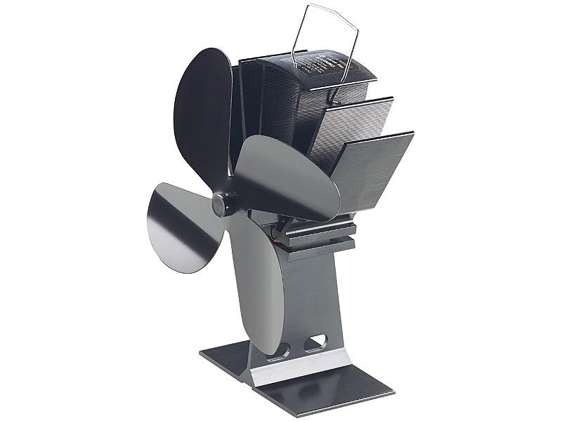 carlo milano kaminofenventilator stromloser kaminofen ventilator mit 4 l fter bl ttern f r 65. Black Bedroom Furniture Sets. Home Design Ideas