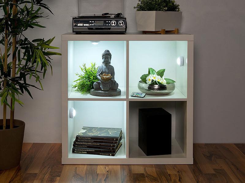 lunartec unterbauleuchte regal 3er set rgb w led unterbauleuchten fernbedienung timer. Black Bedroom Furniture Sets. Home Design Ideas