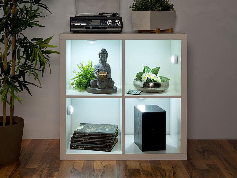 lunartec k chen lampen 4er erweiterungs set rgb w led unterbauleuchten ubl. Black Bedroom Furniture Sets. Home Design Ideas