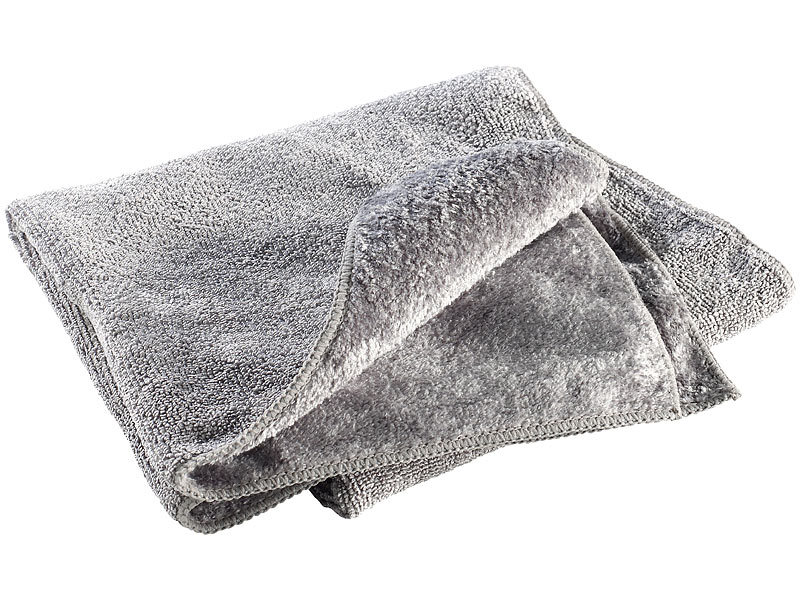 semptec outdoor handtuch mikrofaser handtuch 2 versch oberfl chen 80 x 40 cm grau. Black Bedroom Furniture Sets. Home Design Ideas