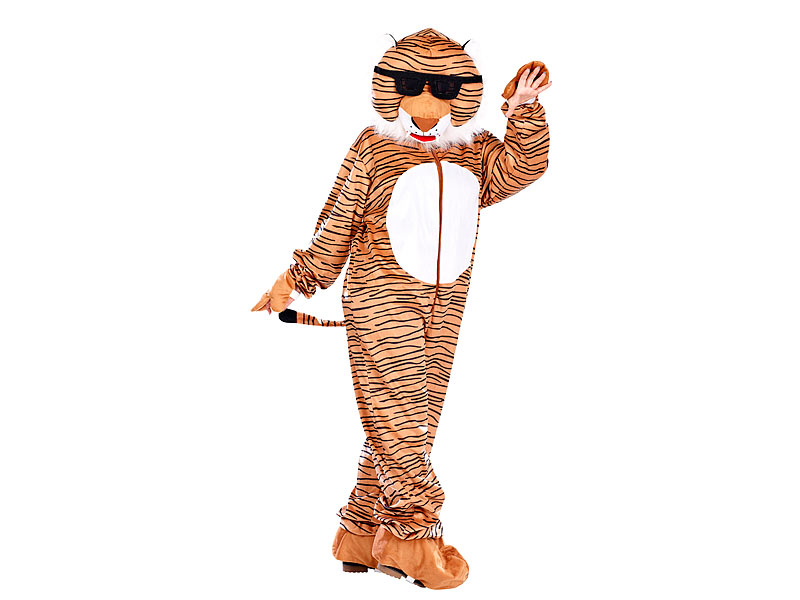 Infactory Tier Kostume Halloween Faschingskostum Tiger Mit