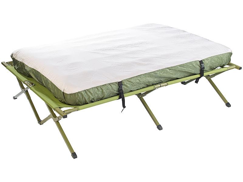 Semptec Urban Survival Technology 4in1-Doppelzelt mit 2 Schlafsäcken, Matratze, Liege und Kissen