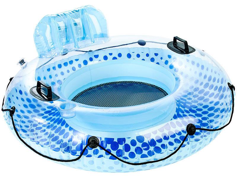 infactory poolbar aufblasbarer schwimmring mit r ckenlehne und getr nkehalter schwimmreifen. Black Bedroom Furniture Sets. Home Design Ideas