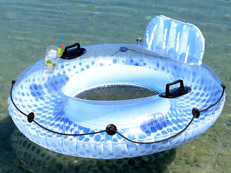 infactory schwimmring erwachsene aufblasbarer schwimmring mit r ckenlehne und getr nkehalter. Black Bedroom Furniture Sets. Home Design Ideas