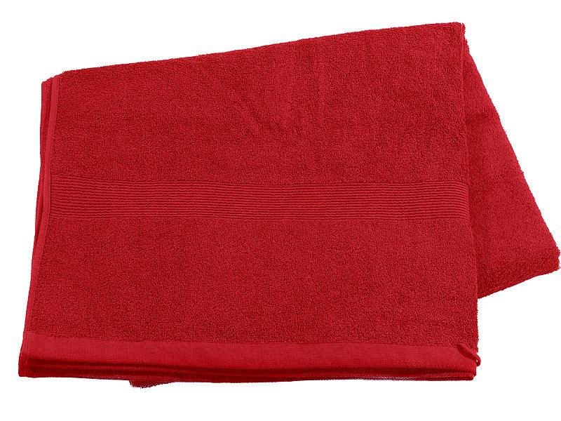 Wilson Gabor Handtucher Saunatuch Aus Baumwoll Frottee 220x90 Rot