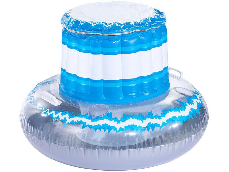 Infactory schwimmende k hlbox mit deckel und becherhaltern for Badepool aufblasbar
