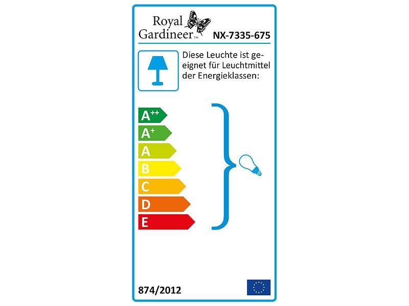 royal gardineer 2 fach garten steckdose mit beleuchtung spritzwasserschutz ip44. Black Bedroom Furniture Sets. Home Design Ideas